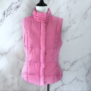 Lilly Pulitzer Pink Puffy Duck Down Quilted Vest